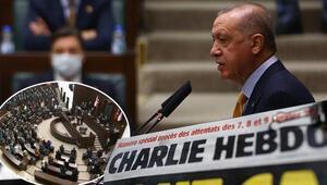 Son dakika haberi: Cumhurbaşkanı Erdoğandan Charlie Hebdo dergisinin alçak karikatürüyle ilgili sert tepki