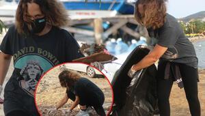 Sertab Erener ve Yonca Evcimik, Bodrumda çöp topladı