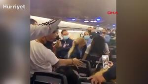 Ortalık bir anda karıştı Porto Rikoda yolcu uçağında maske kavgası