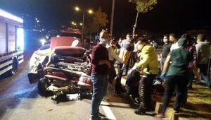 Freni arızalanan kamyon 3 otomobile çarptı