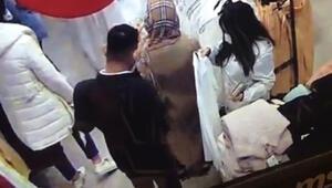 Ataşehirde kalabalık mağazada hırsızlık anı kamerada