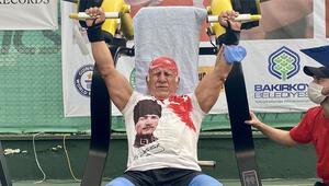 71 yaşında 29 dakikada 97 ton ağırlık kaldırarak tarih yazdı