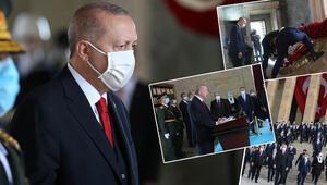 Son dakika haberler... Devletin zirvesi Anıtkabirde... İşte Cumhurbaşkanı Erdoğanın mesajı