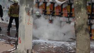 Son dakika haberler: Şişlide yeraltı elektrik kablolarında patlama meydana geldi