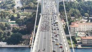 Son dakika haberler: 15 Temmuz Şehitler Köprüsü'nde şaşırtan görüntü
