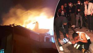 Zonguldakta çatı katı yangınında anne öldü, oğlu ile 3 itfaiye eri yaralandı