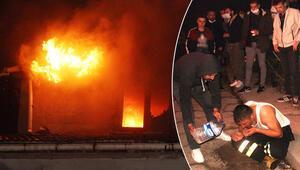 Alaplıda çatı katı yangınında anne öldü, oğlu ile 3 itfaiye eri yaralandı