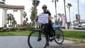 Bisikletliler trafikte görünür olmak istiyor