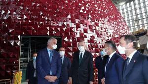 Erdoğan Taksim Camii ve AKMde incelemelerde bulundu