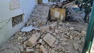 Son dakika: Depremin merkez üssü Yunan adası Sisamdan (Samos) ilk görüntüler