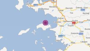 Son dakika haberi: Ege Denizinde bir deprem daha