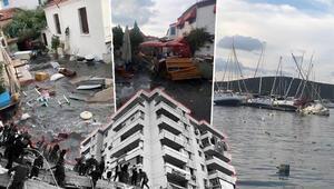 Son dakika haberi: İzmir depreminde yürek yakan olay Deniz yükseldi, su altında kalarak can verdi