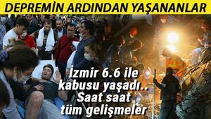 Türkiye tek yürek Dakika dakika İzmir'de yaşananlar