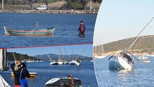 Son dakika haberler: Görüntüler az önce geldi... Seferihisar'da deniz çekildi