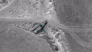 Ermenistan'a ait mühimmat yüklü askeri araçlar imha edildi