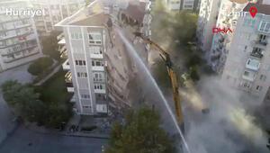 Karagül Apartmanında yıkım çalışmaları başladı