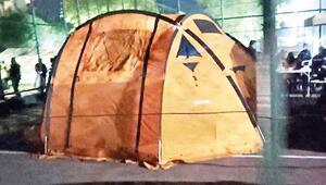Çadırda 24 saat