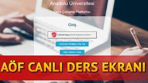 AÖF anadolu.edu canlı ders izleme ekranı - AÖF online canlı dersler nasıl izlenir