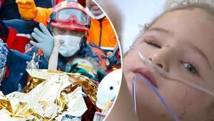 3 yaşındaki Elif 65 saat sonra enkazdan sağ çıkarıldı.. Hastaneden ilk görüntü