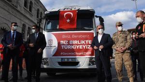 İzmirdeki depremzedelere Sivastan yardım TIRı