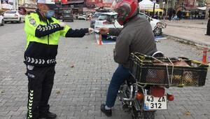 Kütahya'daki denetimlerde 47 motosiklet trafikten men edildi