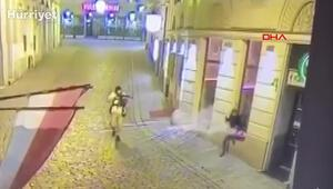 Viyanadaki silahlı saldırı güvenlik kamerasında