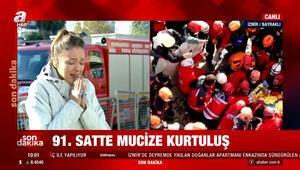 İzmirde 91 saat sonra bir Ayda bebeğe sağ olarak ulaşıldı