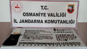 Osmaniyede tarihi eser kaçakçılığına 3 gözaltı