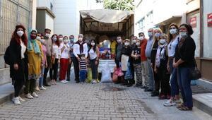 Mut'un kadın üreticileri ve gençlerinden İzmir'e yardım