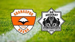 Adanaspor 68 Aksaray Belediyespor maçı saat kaçta ve hangi kanalda