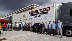 Manavgatlıların İzmir yardımları yola çıktı