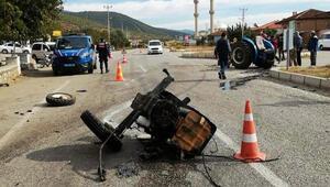 Aydın'daki kazada traktör ikiye ayrıldı