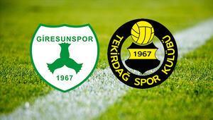 Giresunspor Tekirdağspor maçı saat kaçta ve hangi kanalda