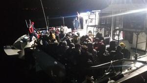 Çanakkalede 102 kaçak göçmen yakalandı