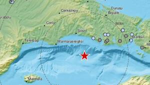 Son dakika... Marmara Denizinde 3.1lik deprem