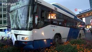 Ankarada kırmızı ışıkta geçen otobüs başka bir otobüse çarptı: 17 yaralı