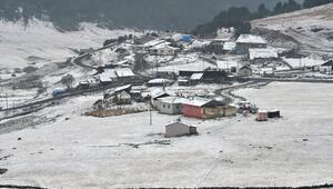 Türkiyenin en popüler kayak merkezleri beyaza büründü