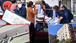 Son dakika haberler: İzmirde deprem bölgesinde evleri zarar gören vatandaşlar taşınıyor Bütün her şeyimiz bu apartman