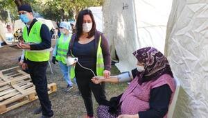 Bayraklı Belediyesinden çadırdaki depremzedelere sağlık hizmeti