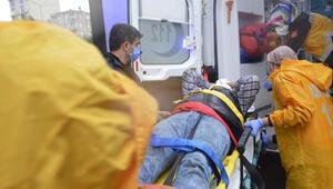 Havalandırma boşluğuna düşen işçi yaralandı