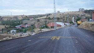 Üç köyde asfalt çalışması