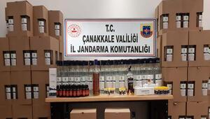 Çanakkalede çok miktarda etil alkol ele geçirildi