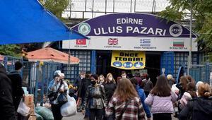Edirneye Bulgar turist akını sürüyor