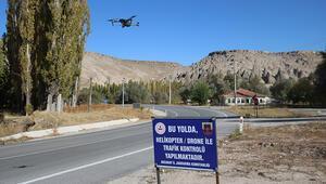 Aksaray'da jandarmadan drone ile denetim