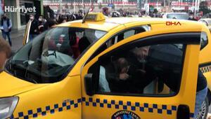 Taksim Meydanında kaza; şoka girdiler