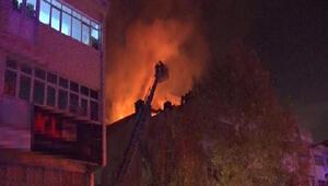 Ankarada oto aksesuar dükkanında yangın