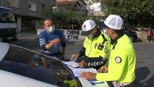 Maltepede fazla yolcu taşıyan minibüs şoförüne ceza