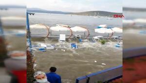 Son dakika haber İzmirde depremde oluşan tsunaminin yeni görüntüleri ortaya çıktı