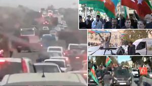 Son dakika… Azerbaycan'da tarihi anlar Bir yanda zafer kutlaması bir yanda kaçış…