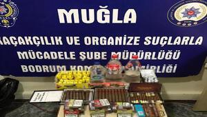 Muğlada sahte içki ve tarihi eser operasyonunda 5 tutuklama